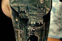 big black and grey tattoo