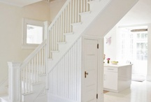 White Staircases / As I paint the staircases in my own home white this board is to inspire me along the way. Cherry