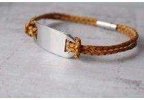 Identity Bracelets / Leather and Stainless Steel Personalised Bracelets