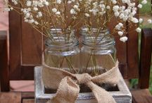 Country Centerpieces I ❤️ gypsophila