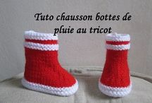 tricot bebe bottons chaussons