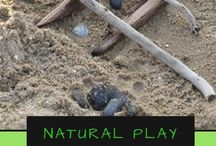 Natural Play / Using what nature has given us to play and learn with children. Put the screens down and explore and play. The great thing is getting outside is free and most these activities will be..
