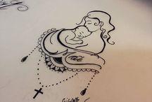 Tatuajes madre e hijo