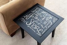 Repurposed, reused, or rebuilt furniture / Everything from DIY side tables, repurposed buffets to a fresh layer of paint