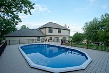 Pool Decks / In this board, we have included an assortment of wood and Trex pool decks that we have built.