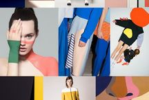 Fashion moodboard color
