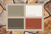 House Ideas - Exterior / Exterior House Colors, Fences, Gates, Lights, Garden Features & Garage Ideas