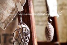 Pedras e crochet