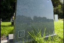 Digital grave stone and memorial technology / Technology ideas for grave stones, memorials and funerals.