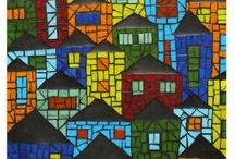 quadros em mosaico / by Maria Regina Finoti F da Silva
