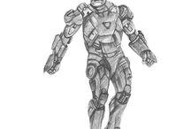 Iron Man Pencil Sketches