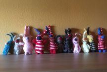conejitos / muñecos de punto