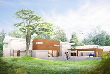 Surrey Homes / 4d Studio have designed two iconic contemporary houses for a greenbelt site in the Surrey Hills.