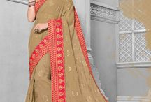2673 ORANGE 4 PARTY WEAR INDIAN WOMEN SAREES / Every woman want to wear different saree in different party this collection of that type of woman. In this catalog each every saree is different.