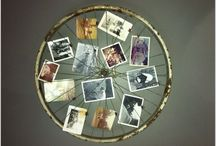 Postcards on the wall / Frames, pictures, photos AND POSTCARDS on wall...