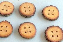 Knoflíky - dřevěné / vyrábění pro děti