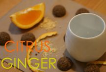 Citrus Ginger / A board dedicated to Citrus Ginger teadrops! A delicate fusion of sweetness from freshly squeezed oranges with the subtle, yet powerful zing of crushed ginger.