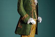 trajes franceses época siglo XVII
