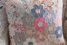 English Paper Piecing Hexy Cushions