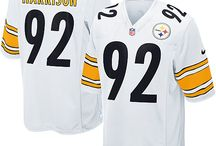 Steelers James Harrison Black Authentic Jersey For Women's & Youth & Men's All Size