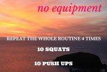 Workout tips / Workout routines | Bodyweight workouts | Home workouts | No equipment routines | Bodyweight exercises