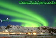 Iceland tour package / 10 days Iceland Self Drive tour package for Rs. 1,50,000 + 3.50% service tax per person only.