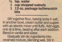 Desserts / Butterscotch bars