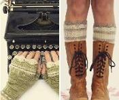 Knitting boot cuffs/liners/tops, leg warmers