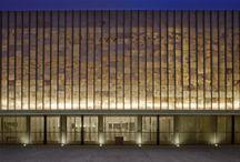 light building  façade