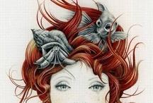 """I'm a mermaid / """"Sous l'océan, sous l'océan, Doudou c'est bien mieux, Tout le monde est heureux, Sous l'océan."""" ‒‒‒‒  """"Là-haut, ils bossent toute la journée, Esclavagés et prisonniers, Pendant qu'on plonge, Comme des éponges, Sous l'océan."""""""