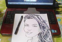 maratona de caricatura / Tentar pela primeira vez desenhar por desenhar e não por dinheiro...