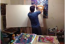 Art: work in progress. / Documenting the creative process. An empty canvas into magic.