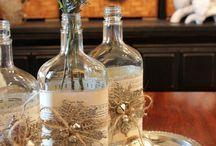 szkło / ozdabianie i przetwarzanie szklanych butelek, kieliszków,słoików,wazonów itp