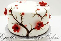Hand painting cakes