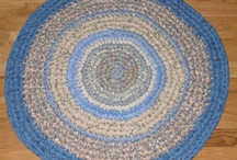 Rag Rugs / Here you will find my hand crocheted cotton fabric rag rugs. Shapes: Round, Oval, Rectangular, Heart...