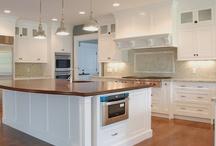 Kitchen brown white