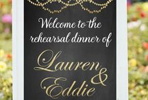 Rehearsal Dinners / Food, Fun, Decor for your Rehearsal Dinner