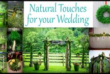 """Naturally """"Wild"""" Weddings / We can help your Special Day be even more special by adding a natural twist to your event. Gardens of The Blue Ridge Inc offers natural greenery that can be added to your floral designs; or we offer """"Made to Order"""" beautiful Garlands, Wreaths, Kissing Balls, Centerpieces and more - made from any combination of greenery to match the theme of your event. Our All Natural embellishments can be used for any special event you are planning if you are looking for a rustic elegant feel."""
