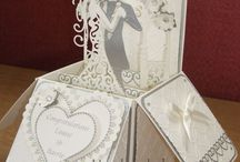 wedding card in box  card in box