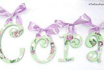 Fairy Nursery Letters, Fairy Painted Letters, Fairy Kids Room Decor