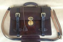 handmade leather briefcase / My leather works