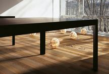 Mixed colours woodfloors / A fine selection of blended colours in wood floors with a precise stylistic mood for modern interior decoration