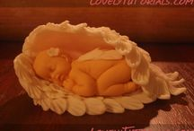 Fondant Angel Wings & Baby