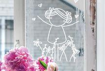 lente op het raam