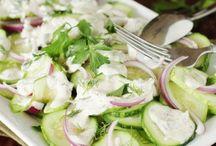salads, cuke