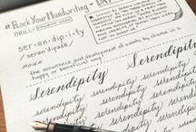 Handwriting / Em tempos de todo o tipo de tecnologia, ainda adoro escrever em diários, cartas, registros.