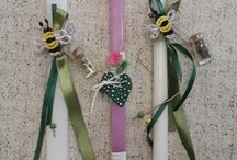 Orthodox Easter Candles by Glykeria @Mother&Daughter / Handmade Orthodox Easter Candles by Glykeria @Mother&Daughter