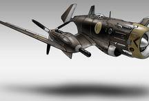 Vehicles - Diesel Punk Aircraft