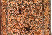 Persian carpets with garden motifs