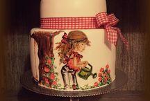 Sanelas Tortenwelt Sarah Kay Hand painted cake / Sanelas Tortenwelt Sarah Kay cake